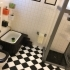 Miniature towel hanger & shampoo  (bathroom) image
