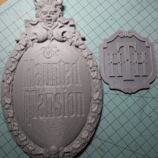 Picture of print of Disney World Magic Kingdom The Haunted Mansion.