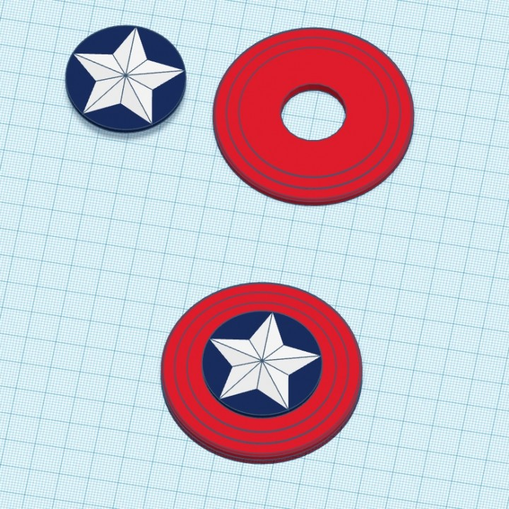 photo regarding Captain America Shield Printable identify 3D Printable Captain The united states Guard Fidget Spinner by means of Rogar