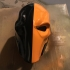 Deathstroke mask Arkham Origins with Back Piece print image