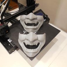Picture of print of Samurai Half Mask (Mempo)