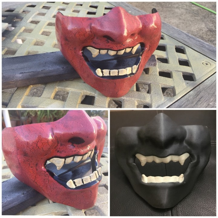 3D Print Of Samurai Half Mask (Mempo) By Gualloby