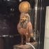 Egyptian gilt gesso-painted wood Ba-bird image