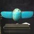 Egyptian blue glazed winged scarab image