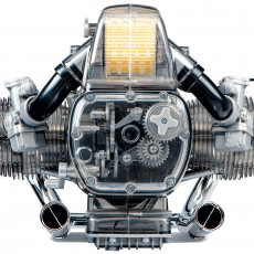 Picture of print of V2 sports motorbike engine