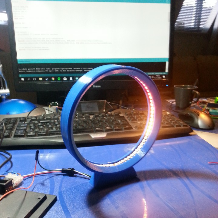 Picture of print of LED Ring Lamp - 3D Printing Build This print has been uploaded by Sebas