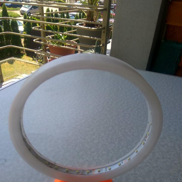 LED Ring Lamp - 3D Printing Build