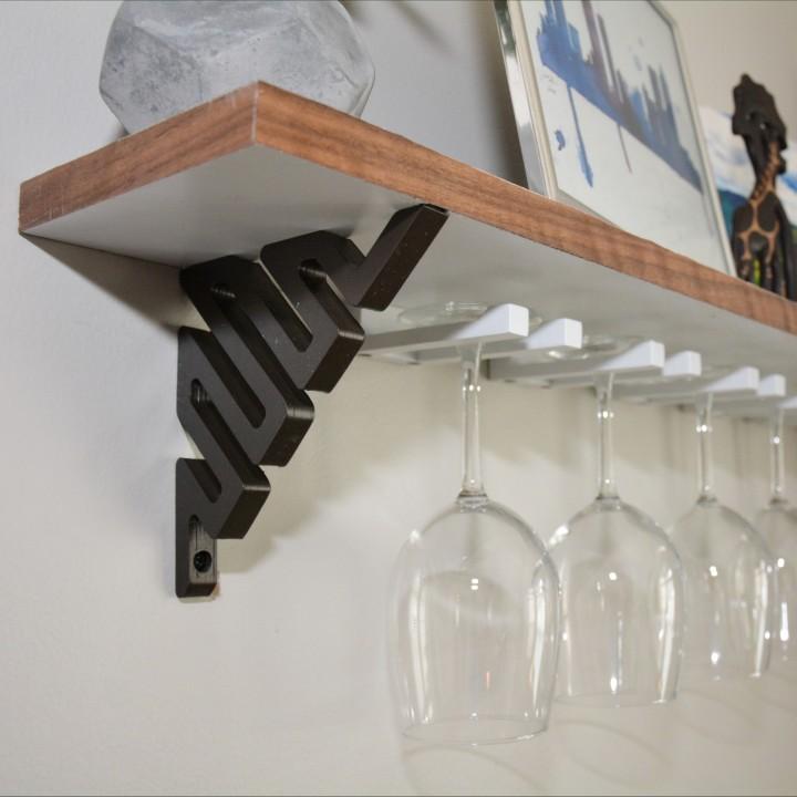 3D Printable Wine Glass Shelf