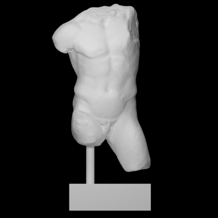 Greek marble male torso