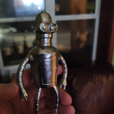 Picture of print of Futurama bender