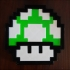 Mario 8-bit 1 up mushroom image