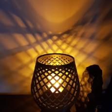 Desk Lamp. Latice Design. Two Part