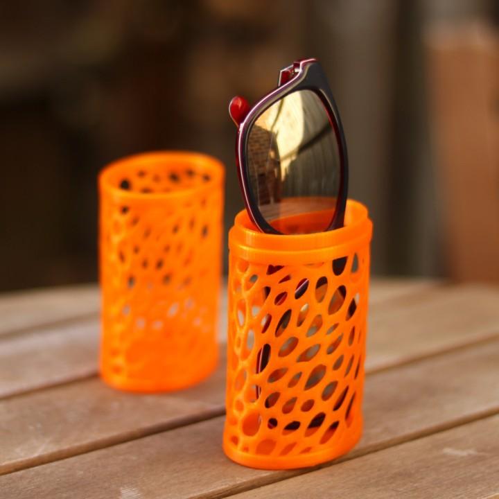 Sunglasses case - Voronoi