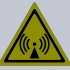 Non-ionizing radiation warning sign image