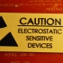 Elecrostatic sensitive equipment warning sign image