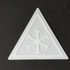 Freezing temperatures warning sign