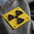 Simple radiation symbol plate image