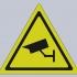 Security camera warning sign image
