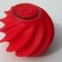 Optical illusion fidget ball print image