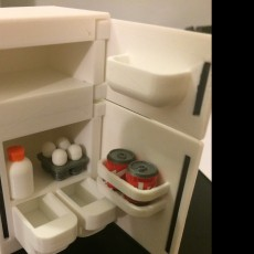 Miniature milk & eggs & can