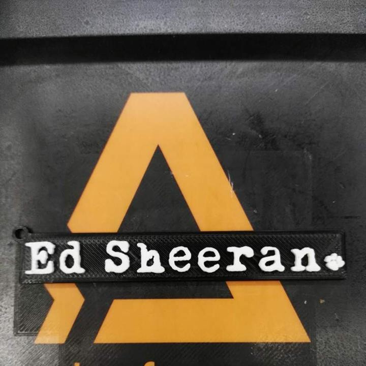 ed sheeran keychain