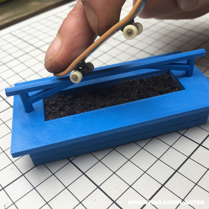 Modular Fingerboard Ramp & Planter | design contest winner
