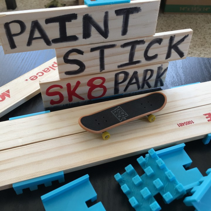 Paint Stick Skate Park - All Pieces