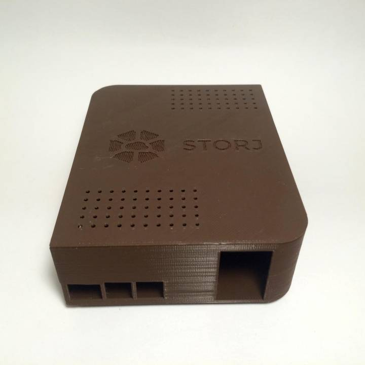 "Raspberry Pi enclosure for storj.io cloud (one 2.5"" and one 3.5"" hdd/sdd)"