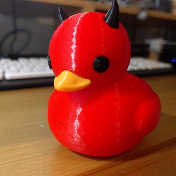 Devil rubber duck