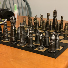 Picture of print of Steampunk Chess Set