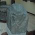 Fragmentary statue with hittite hieroglyphic inscription image