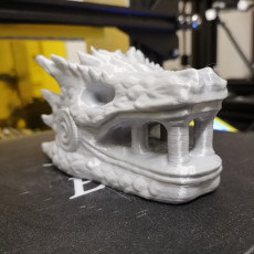 Picture of print of Dragonstone Gate Statue - Game of Thrones