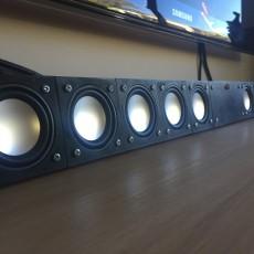 3D Printable Modular Sound Bar / Center Speaker