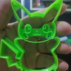 Picture of print of Pikachu cookie cutter
