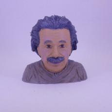 Picture of print of Albert Einstein Bust