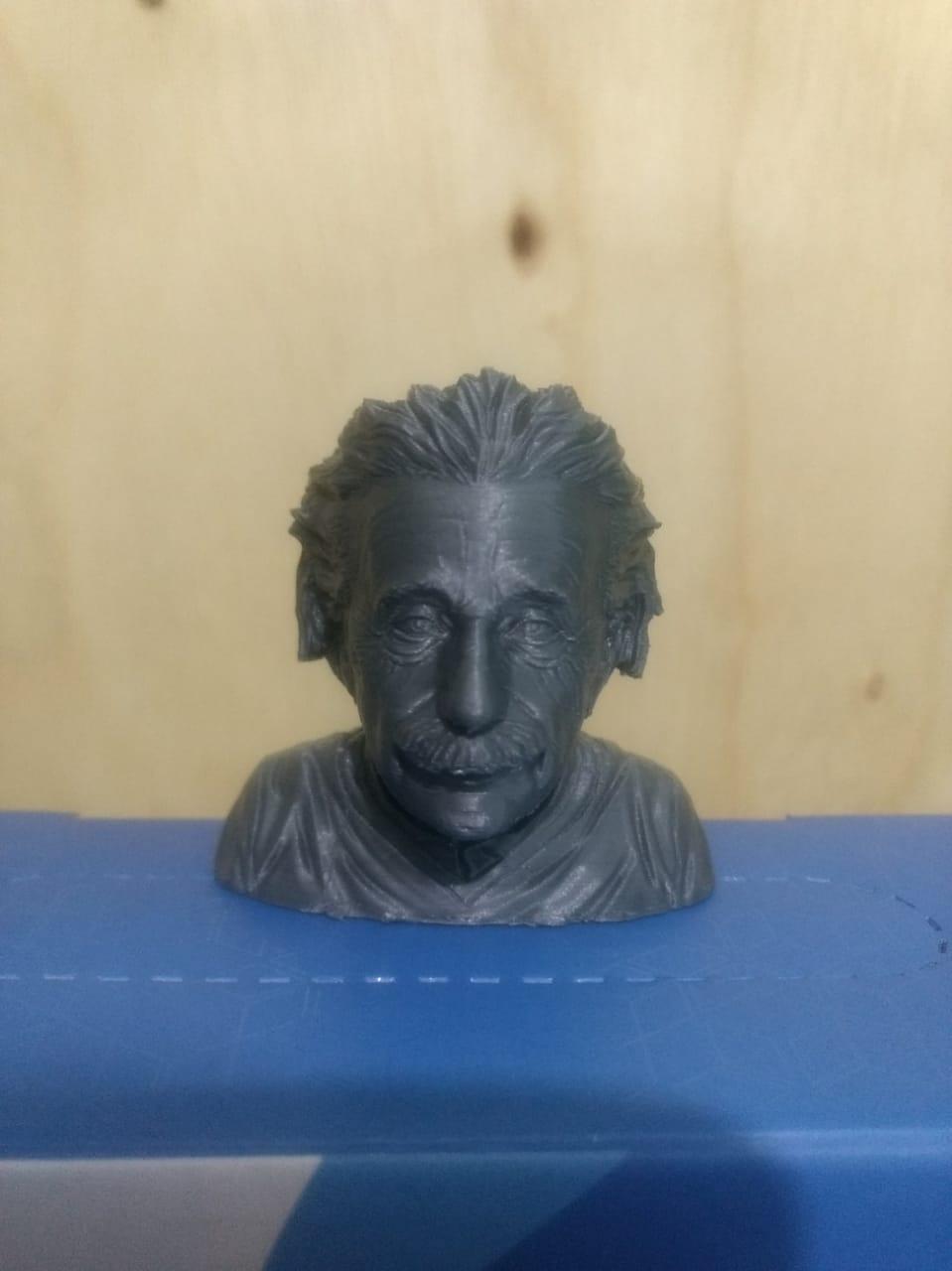 3d Printable Albert Einstein Bust By Lloyd Chidgzey