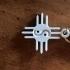 Zia or Santa Fe Sun Yin Yang Keychain image