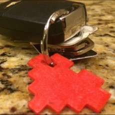 8-Bit Heart Keychain