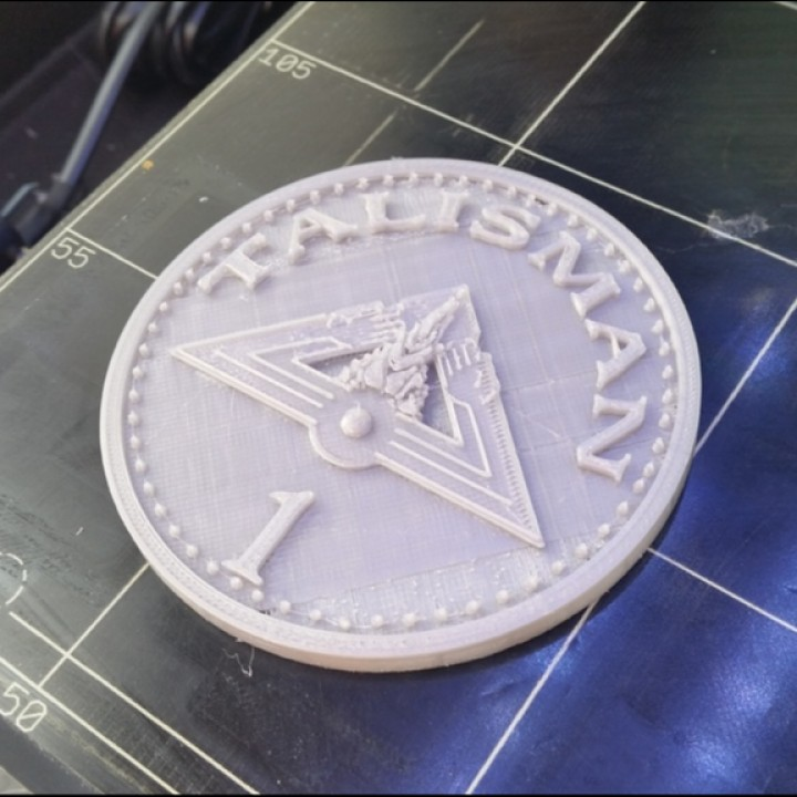 3d printable talisman giant gold coin board game for 3d decoration games