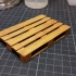 3D-printed scale model of EUR pallet (made of wood-based filament) print image