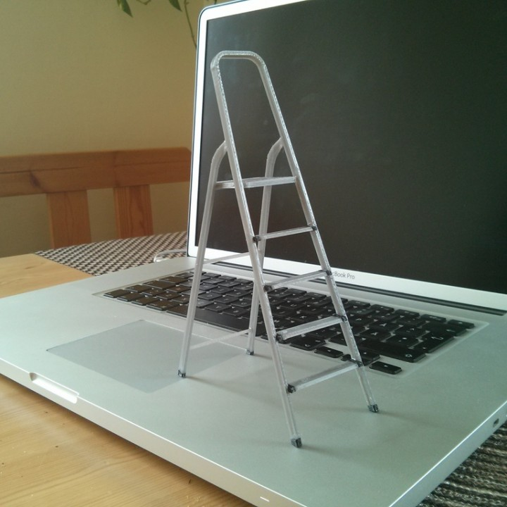 3D-printable scale model of a ladder