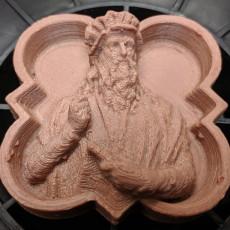 Picture of print of Relief portrait of Leonarda da Vinci