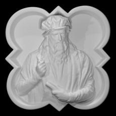 Relief portrait of Leonarda da Vinci