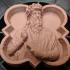 Relief portrait of Leonarda da Vinci print image