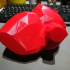 Low poly heart vase print image