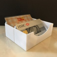 Card holder box (stackable)