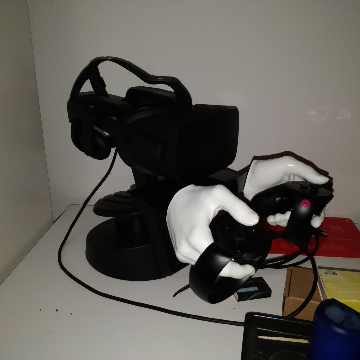 Picture of print of Oculus Rift Touch Controller wall mount/hanger This print has been uploaded by Martin Gertsen