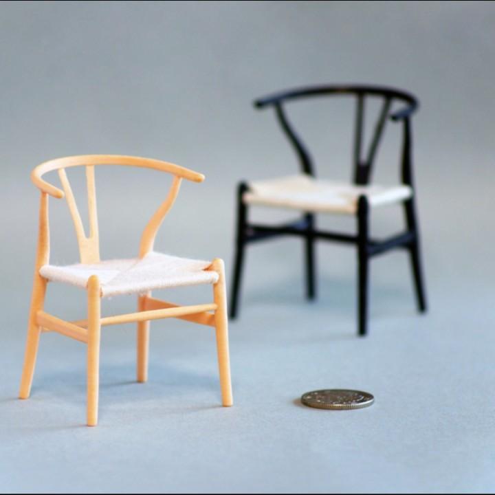 3d printable hans j wegner wishbone chair y chair by akira737. Black Bedroom Furniture Sets. Home Design Ideas