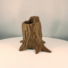 Picture of print of Low Poly Tree Stump Pen Holder