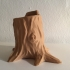 Low Poly Tree Stump Pen Holder image